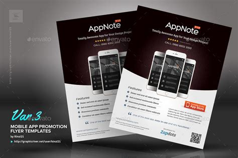 design flyer app mobile app promotion flyers by kinzi21 graphicriver