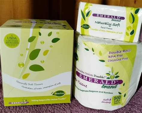 review  emerald brand facial tissue  toilet paper