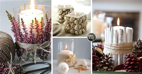 candele per natale fai da te decorazioni candele fai da te 20 idee per abbellire casa