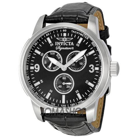 invicta signature ii black leather s 7339