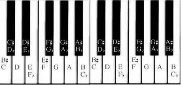 Piano Key Notes by Black Piano Keys Chart Images Amp Pictures Becuo