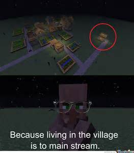 Minecraft Meme - hipster npc minecraft by fireboy meme center