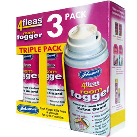 3 x johnsons 4fleas flea fogger home flea bomb