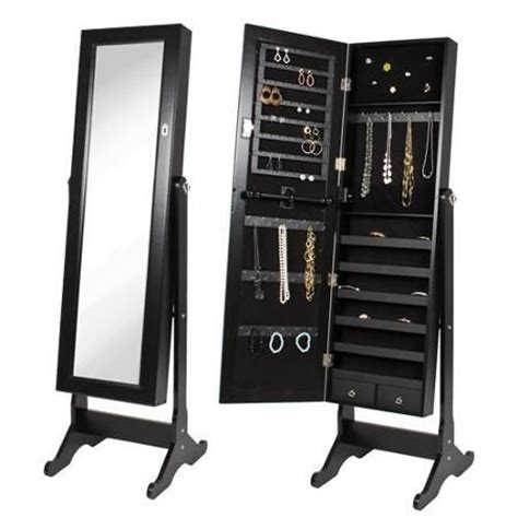 full length mirror jewellery cabinet the range jewelry box tall swivel full length mirror easy to move