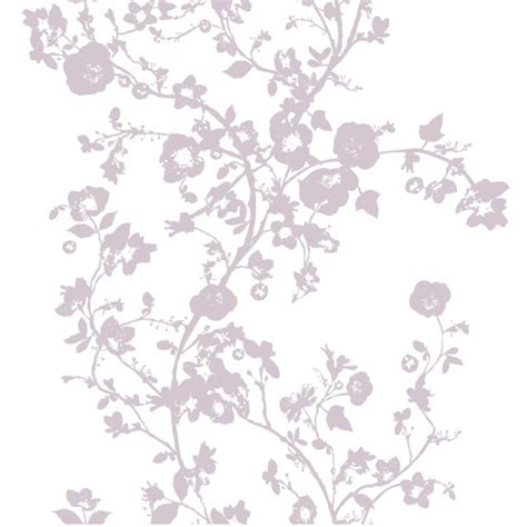 floral wallpaper in purple by lutece from b q budget wallpapers shopping housetohome co uk
