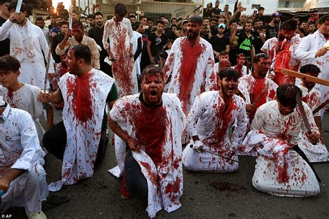 shiite muslim pilgrims shed blood to mark ashura in iraq