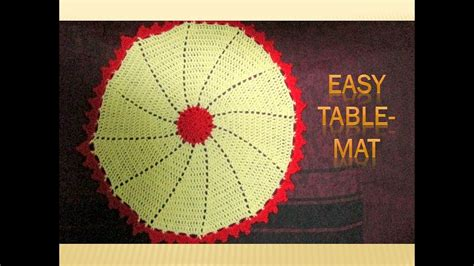How To Make Table Mat by How To Make Crochet Table Mat Runner Placemat