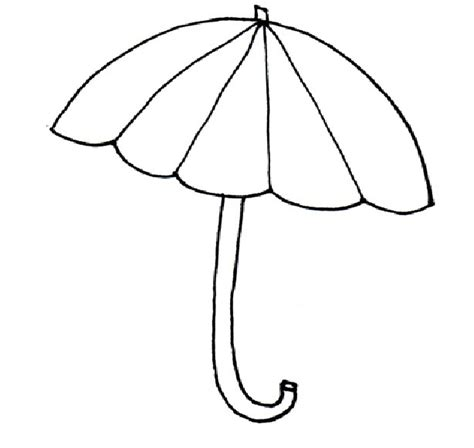 umbrella pattern to color printable raindrop template cliparts co