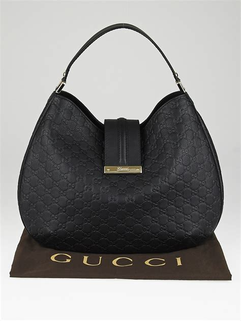 News Web Up Ebelle5 Handbags Purses by Gucci Black Guccissima Leather New Web Hobo Bag Yoogi S