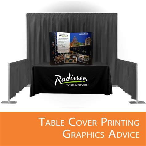 exhibit table covers with logo table cover printing graphics advice affordable exhibit