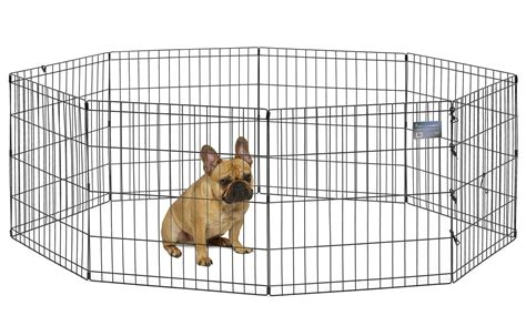 puppy exercise pen puppy playpen crate fence foldable metal exercise pen 24 quot height ebay