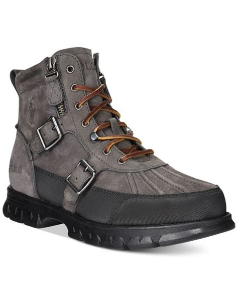 grey polo boots polo ralph demond duck boots in gray for grey