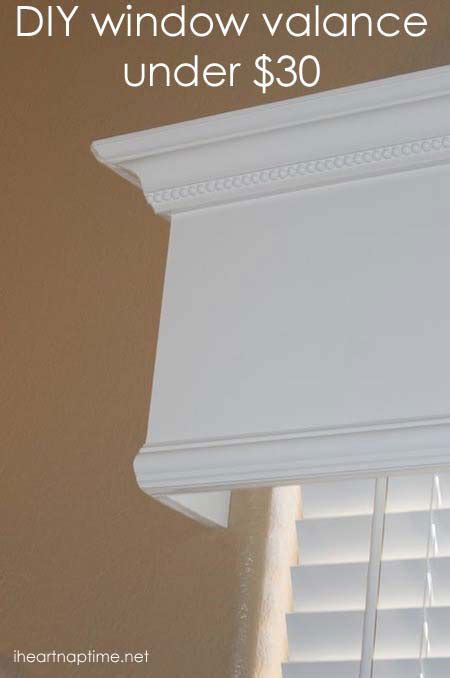idea cornice diy box valance