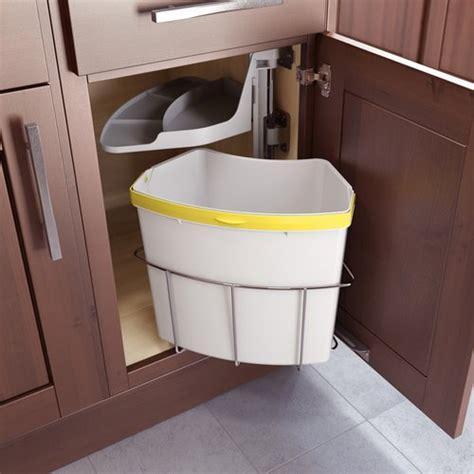 kitchen recycle bin lazy susan corner cabinet hinge vauth sagel oko center 1 waste recycling center 20 qt
