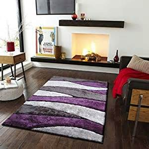 tufted gray and purple shag area rug