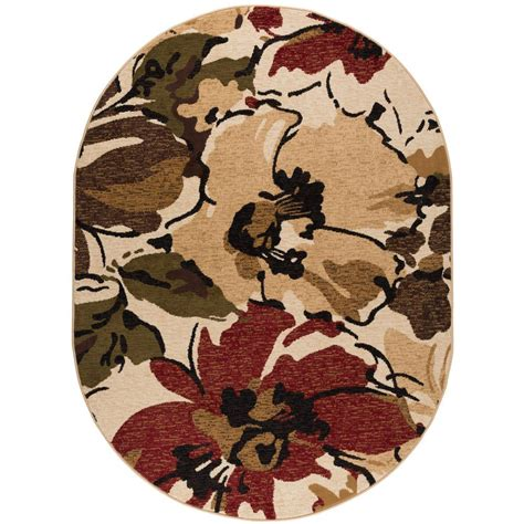 rug 3 ft tayse rugs laguna beige 5 ft 3 in x 7 ft 3 in oval indoor area rug 4570 beige 5x8 oval the