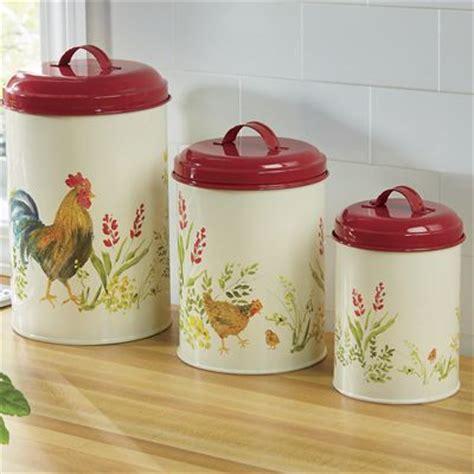 piece garden rooster canister set  paula deen
