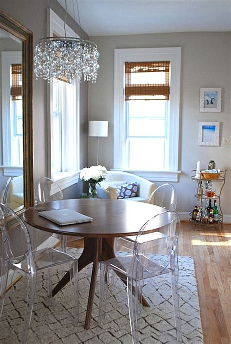 acrylic dining room chairs maximize your space with acrylic furniture