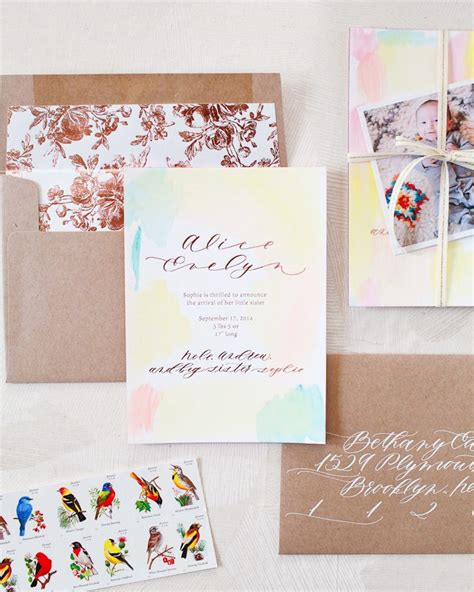 Handmade Birth Announcements - custom birth announcements for oh so beautiful paper