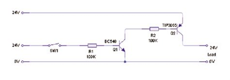 transistor tip 2n3055 transistor as a switch help