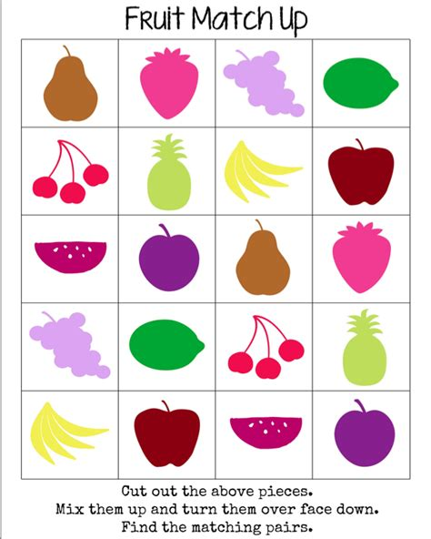 printable match up games guest mama fruit match up game from mama miss boy mama