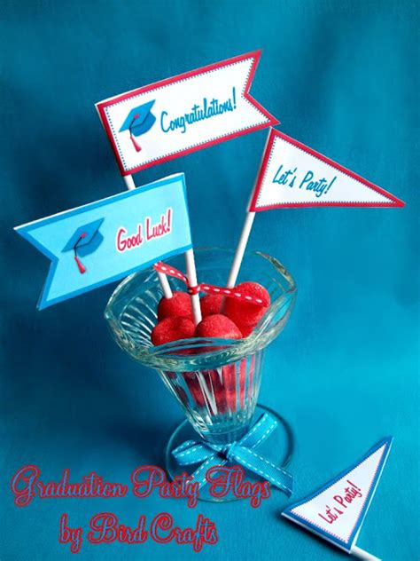 printable graduation party decorations the red polka dot graduation flags free printable