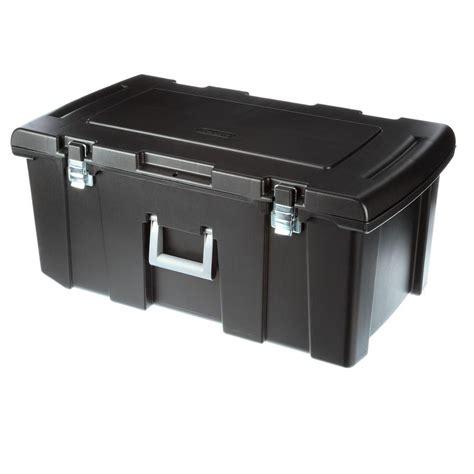 storage box sterilite footlocker storage box 18429001 the home depot
