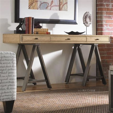 Loft American Country Style Retro Desk Wood Desk Entrance Country Style Computer Desk