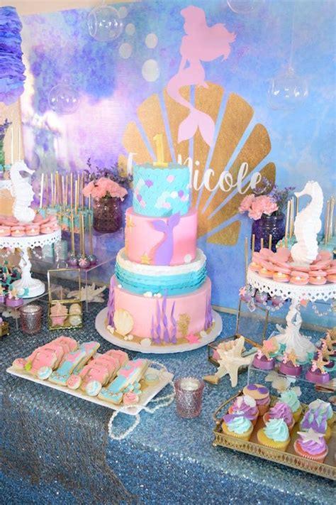 karas party ideas pastel lets  mermaids birthday party karas party ideas