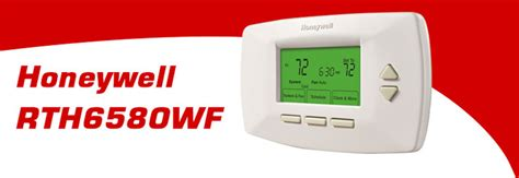 honeywell rth6580wf wi-fi 7 day programmable thermostat installation