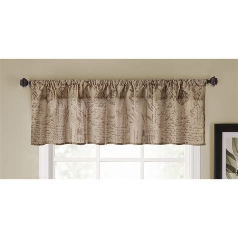 lowes curtains and valances shop allen roth 54 in l script valance allen roth