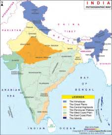 physiographic map of physiographic map of india india physiographic map