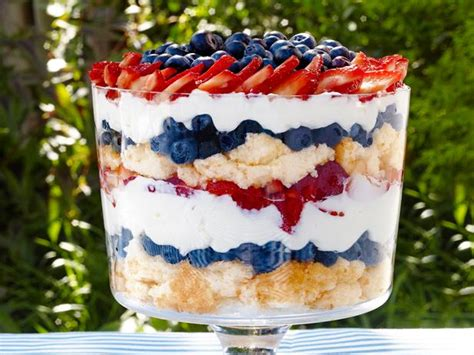 july 4th recipe red white and blue trifle dessert patriotic berry trifle recipe sunny anderson food network
