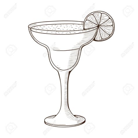 margarita drawing glasses margarita pencil and in color