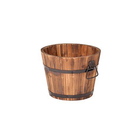 wooden whiskey barrel planters small whiskey barrel planter