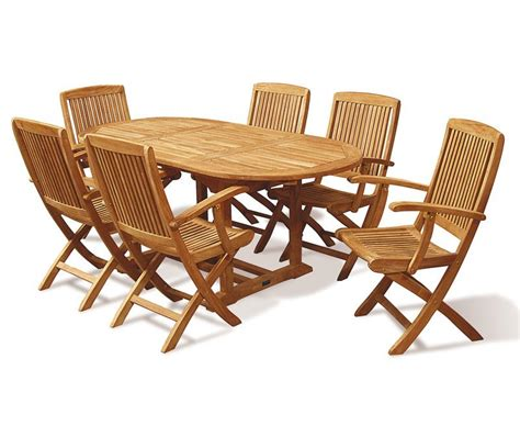 Folding Dining Table Set Expandable Dining Table Set With Folding Armchairs