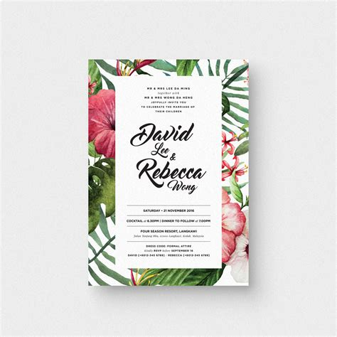 tropical card template tropical i invitation card the paperpapers