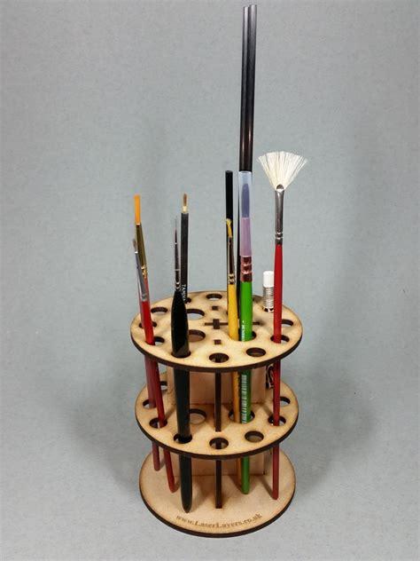 pattern for paint brush holder mdf paint brush holder rack v1 from laserlayers on etsy studio