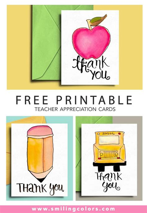 Free Appreciation Printables free printable appreciation cards smiling colors
