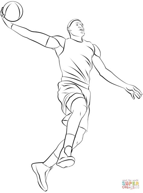 coloring pages of nba players basketball player coloring pages coloring page for kids