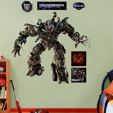 transformers wall stickers fathead transformers megatron of moon sticker