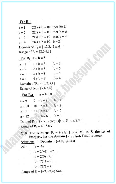Mba Business Maths Notes by Adamjee Coaching Exercise 1 3 Sets Mathematics Notes