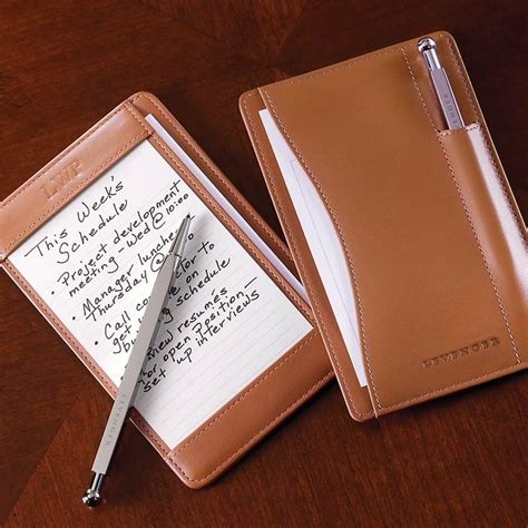 how to make an index card holder pen pocket briefcase leather notepad writing pad index