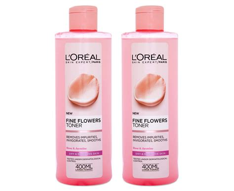Toner Loreal 2 x l or 233 al skin expert flowers cleansing toner 400ml