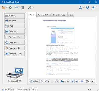 scan program pdf scanner software z scan2send