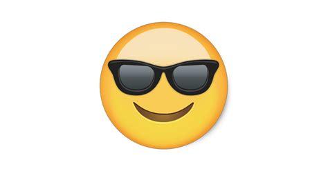 imágenes de inglés para whatsapp smiling face with sunglasses emoji classic round sticker