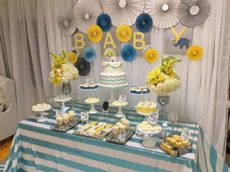 baby shower table ideas glam elephant baby shower baby shower ideas themes