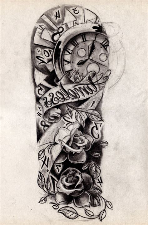 half sleeve tattoo drawing designs half sleeve drawing designs at getdrawings