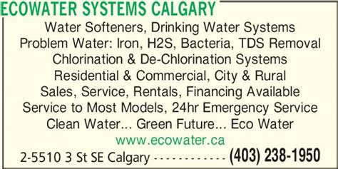 ecowater systems calgary opening hours 2 5510 3rd