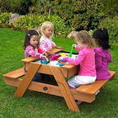 b and q picnic bench i love that it is on wheels no weeds can move it to mow